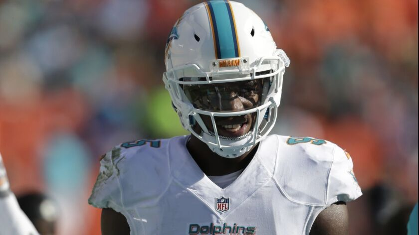 Dion Jordan, shown here with the Dolphins.