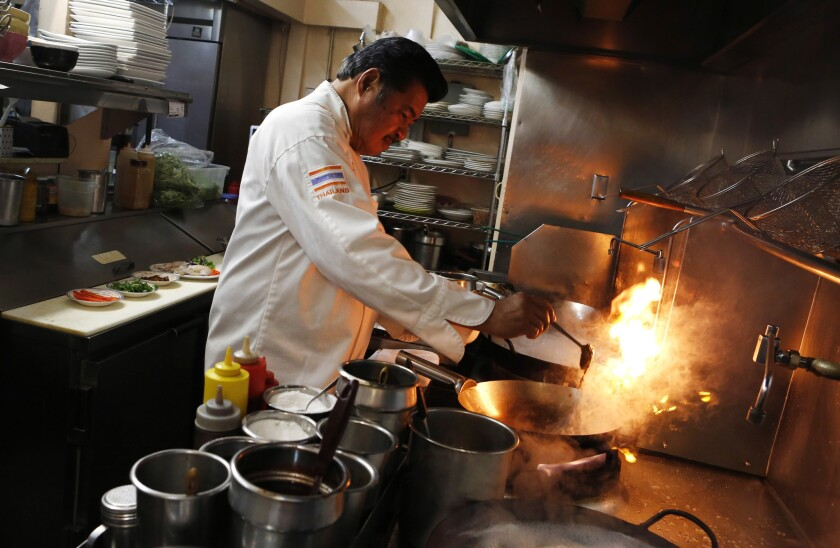 At Jitlada, the fire is both in the kitchen and on the plate.
