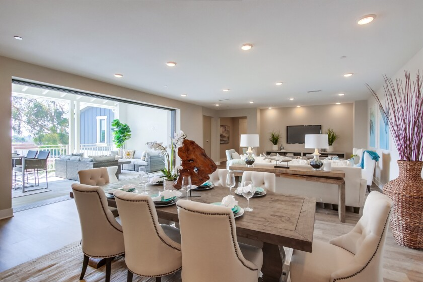 Homes at Carlyle Carlsbad Village connect to private outdoor spaces.