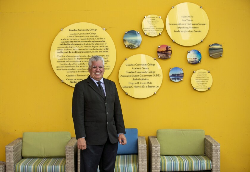 Dr. Vince Rodriguez has been named the next president of Coastline College.