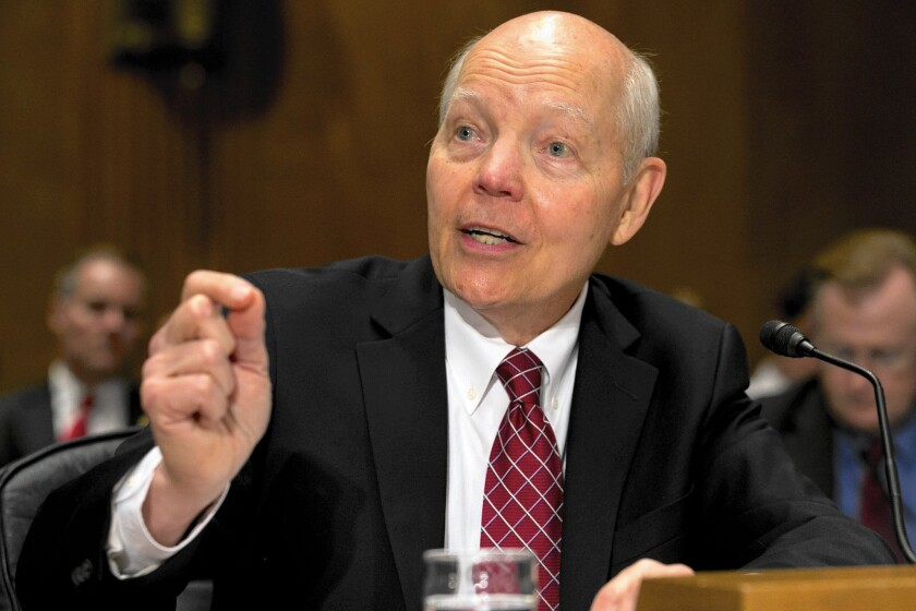 John Koskinen of the IRS testifies to Congress last week on the breach of 104,000 taxpayers' data.