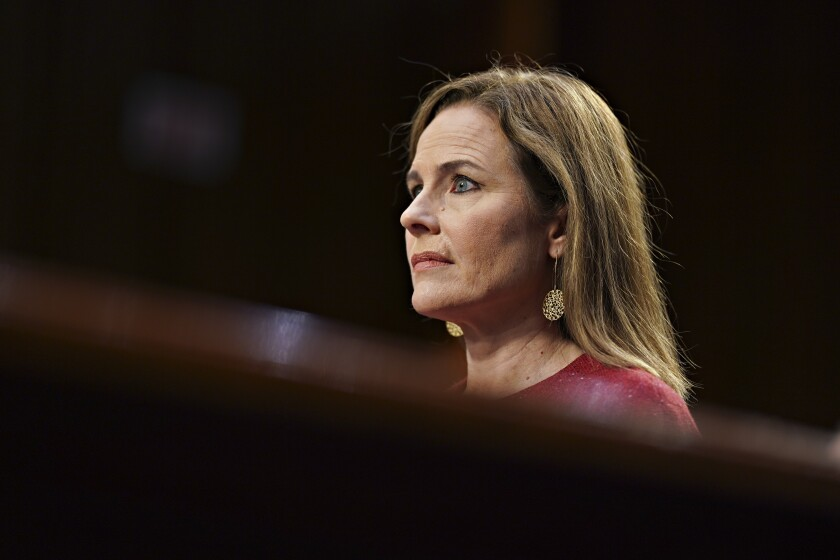 Supreme Court nominee Amy Coney Barrett.