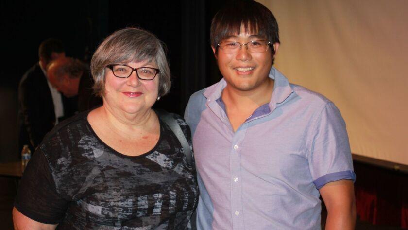 La Jolla Playhouse dramaturg Shirley Fishman and playwright Mike Lew.