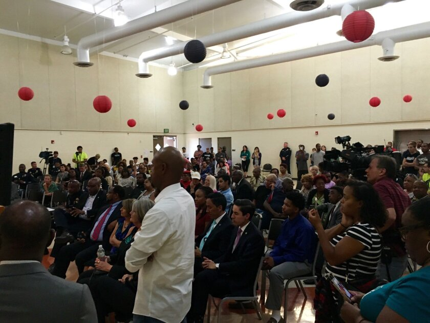 Community members challenged San Diego police during a forum Tuesday, demanding more accountability.