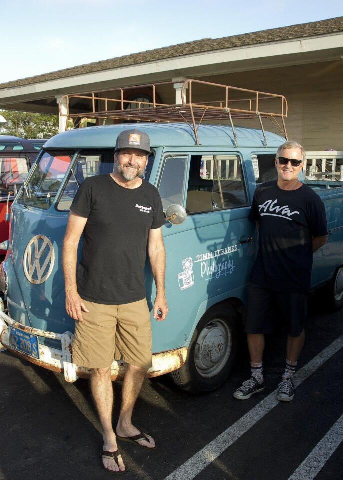 1960 VW Double Cab with current owner Timm Eubanks and previous owner Jon House