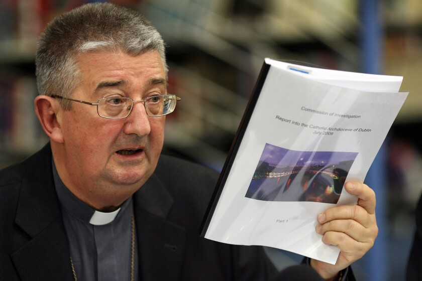 """Archbishop of Dublin Diarmuid Martin told the media that no words of apology will ever be sufficient to the victims of child abuse and that """"there is no room for revisionism regarding the norms and procedures in place."""""""