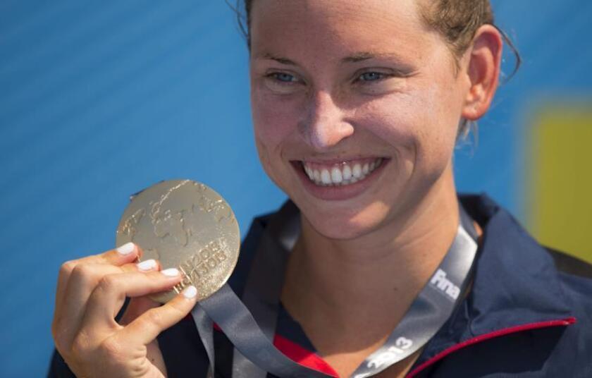 En la imagen, la nadadora estadounidense Haley Anderson. EFE/PATRICK B. KRAEMER/Archivo