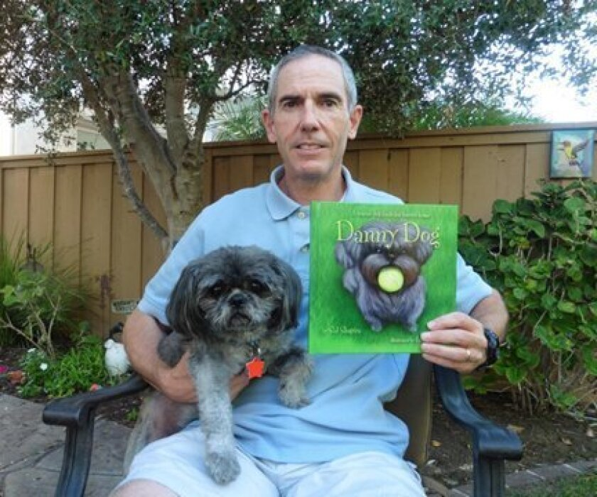 Carmel Valley's Sid Shapira has written a children's book, 'Danny Dog,' about his rescue dog, Danny.
