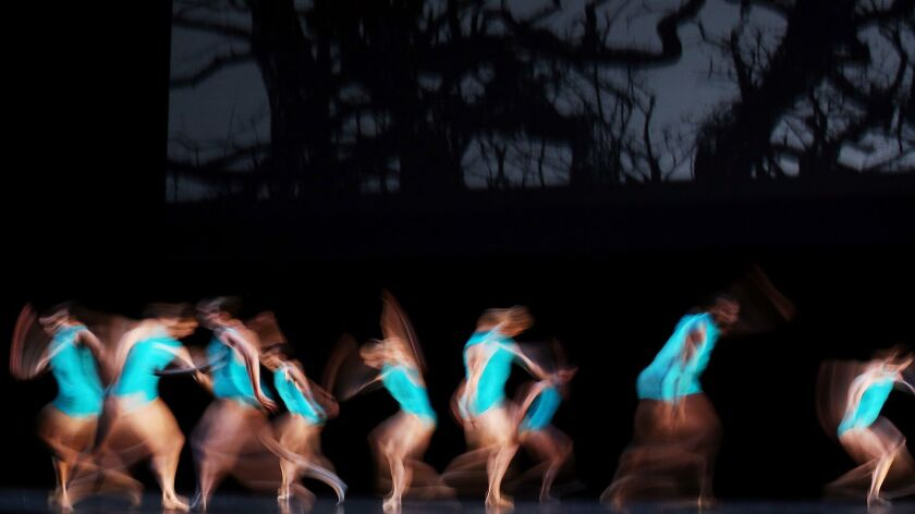 LOS ANGELES, CALIF. - July 15, 2015. Dancers rehearse a one-night-only performance choregraphed by