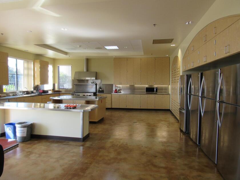 The spacious firehouse kitchen