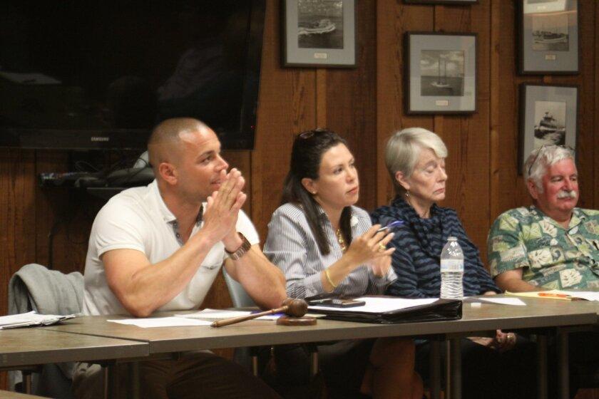 La Jolla Shores Association chair Nick LeBeouf, treasurer Jenny Fineberg and members Dede Donovan and Dave Gordon.