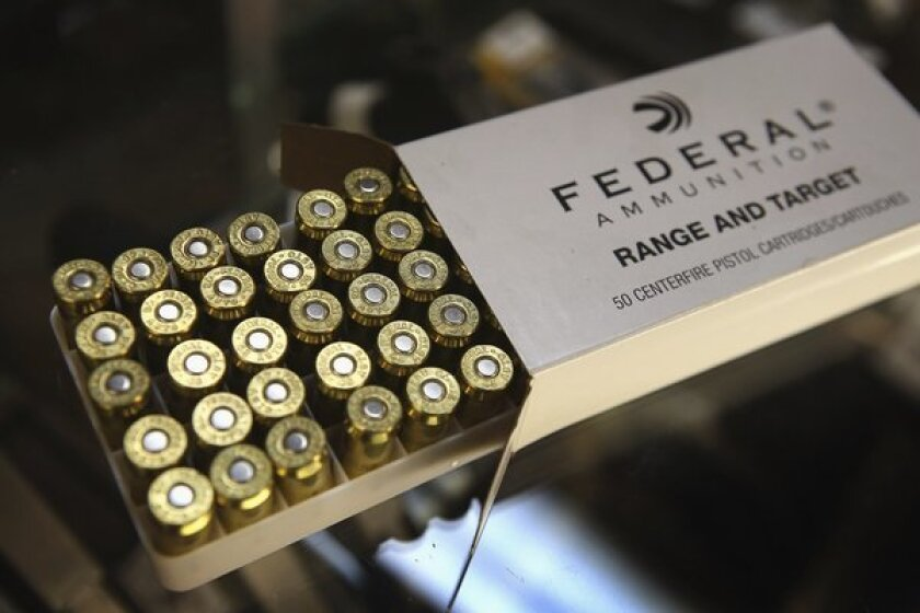 A bill passed by the California Senate would require ammunition buyers to undergo a background check.