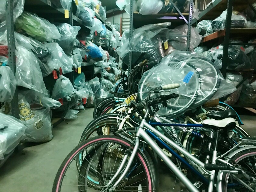 Bikes and plastic bags