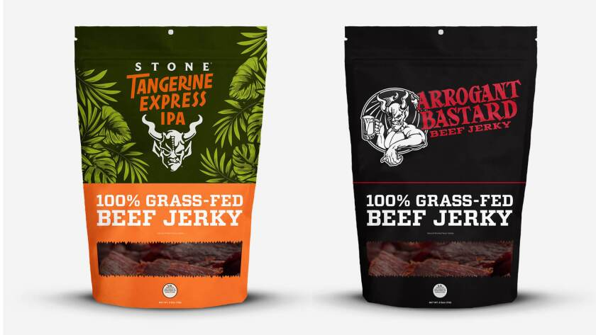 Homegrown Meats partnered up with Stone Brewing for a pair of collaboration beef jerky flavors.