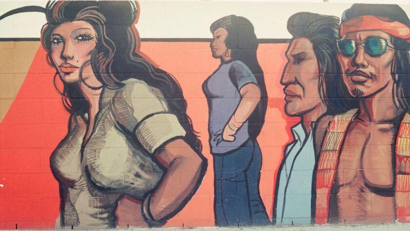 "The Sergio O'Cadiz Moctezuma mural was part La Plaza de Cultura y Artes' ""Murales Rebeldes."""