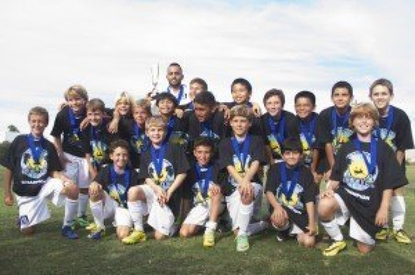 Congratulations to the Surf BU12 Academy team, coached by Arturo Perez, for winning the Carlsbad Coastal Classic on Aug. 24.