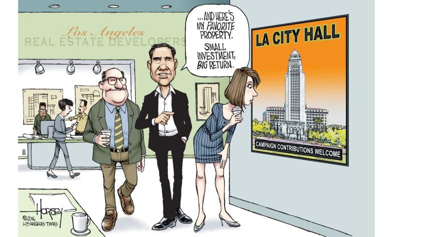 Developers find an open door at LA city hall.