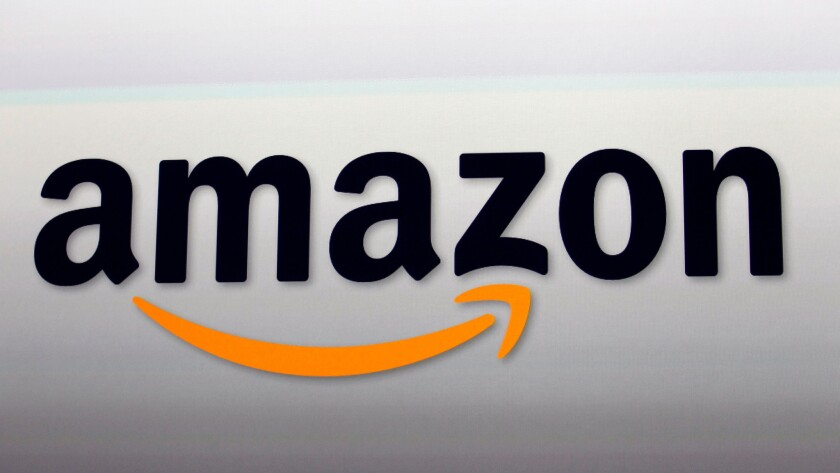This Sept. 6, 2012, file photo, shows the Amazon logo in Santa Monica, Calif.