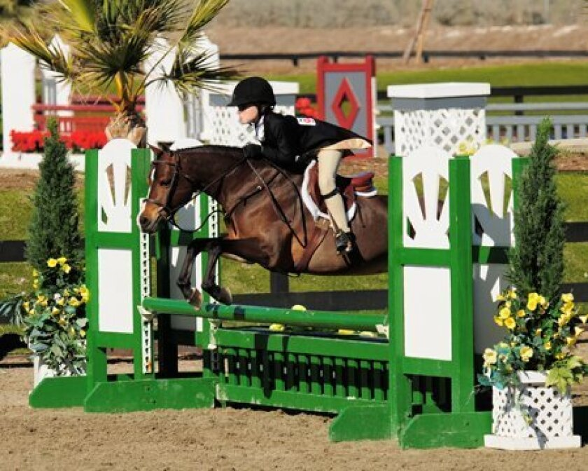 Jillian Stuart on her small pony hunter, Prima Ballerina.