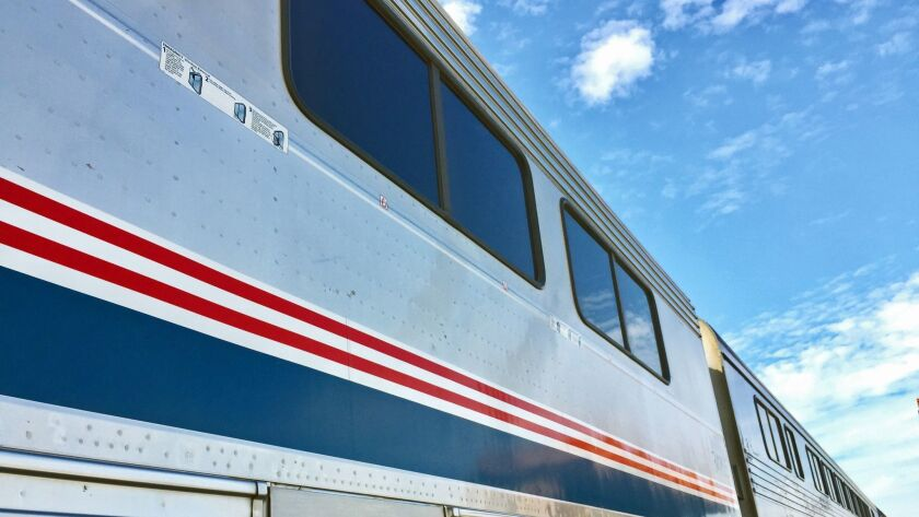 Amtrak's Pacific Surfliner will require reservations for travel during the Thanksgiving holidays. Ph