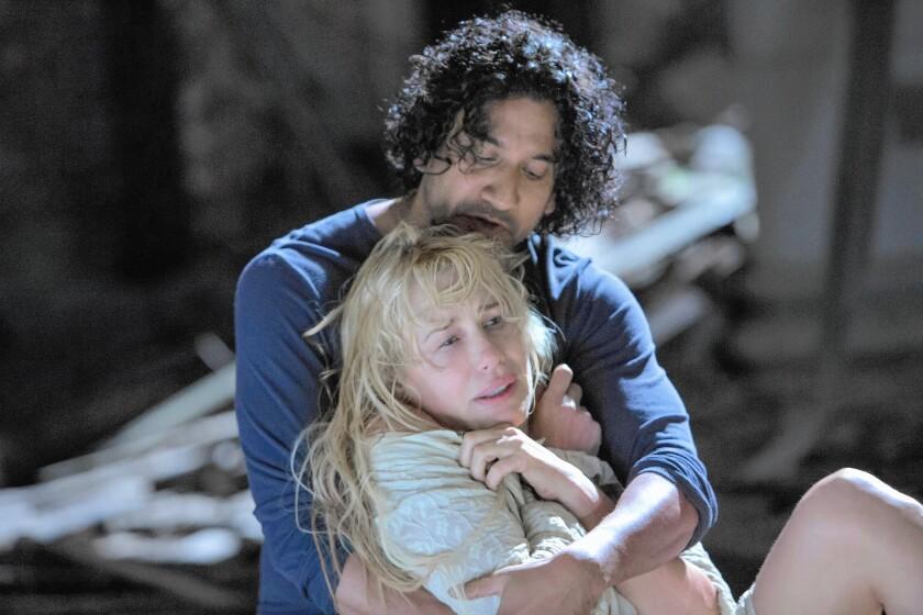 "Naveen Andrews and Daryl Hannah in Netflix's ""Sense8."""