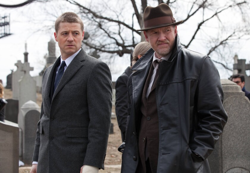 """Fox is betting on """"Gotham,"""" starring Ben McKenzie, left, and Donal Logue."""