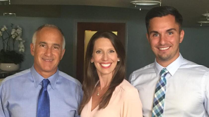 Dr. Joseph D'Angelo, Dr. Ashley Olson and Dr. Ryan Hoffman