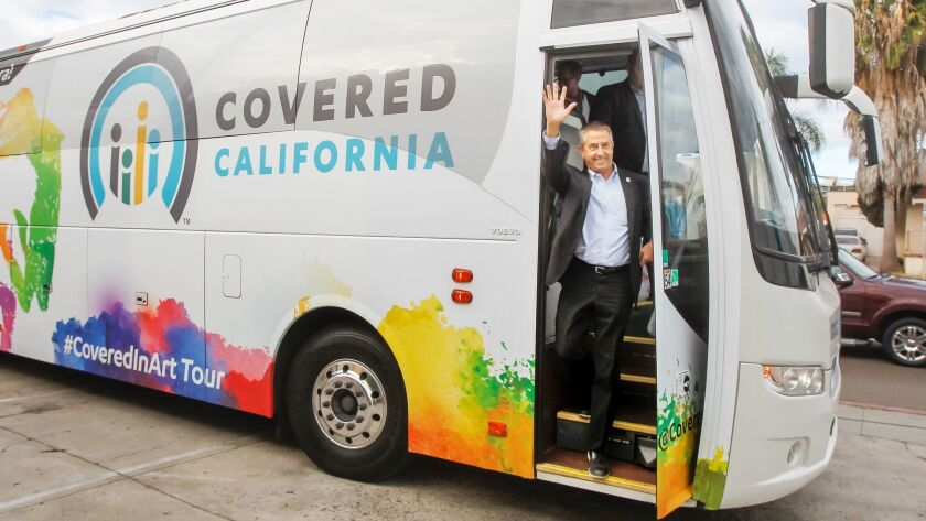 Covered California executive director Peter Lee visits City Heights in November as part of the health exchange's 2018 open enrollment promotional tour.