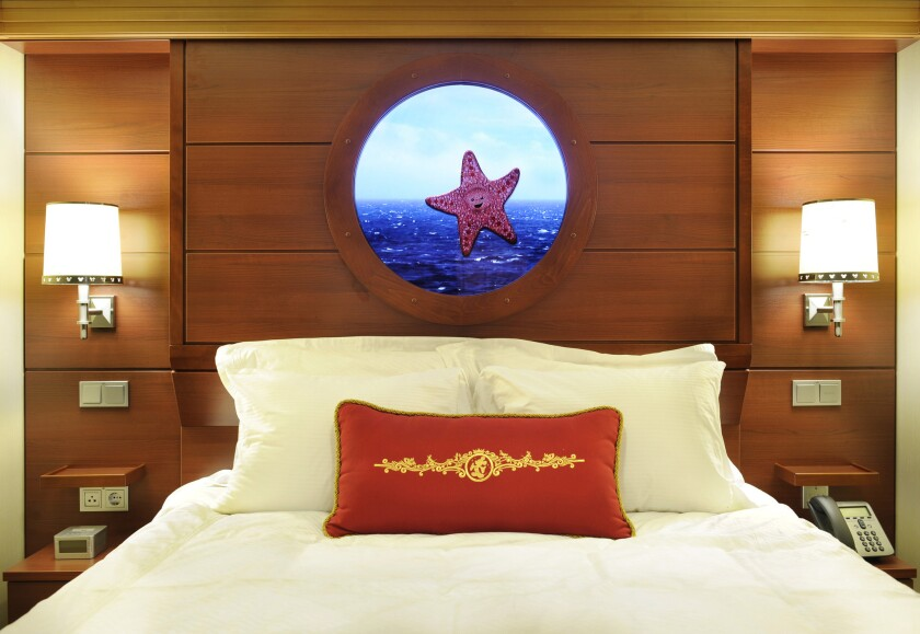 Inside a stateroom on the Disney Dream cruise ship. Two more ships will be joining the Disney fleet, the company announced.