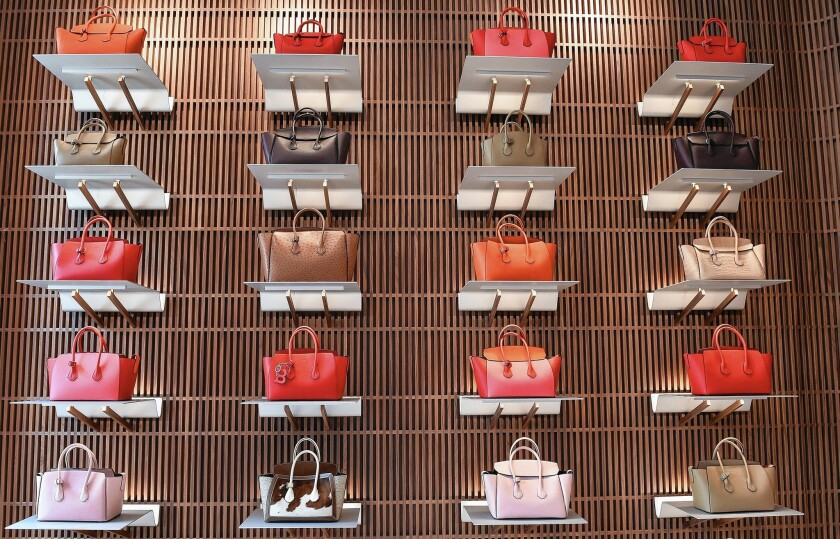 A look inside the Bally flagship store on Rodeo Drive in Beverly Hills.