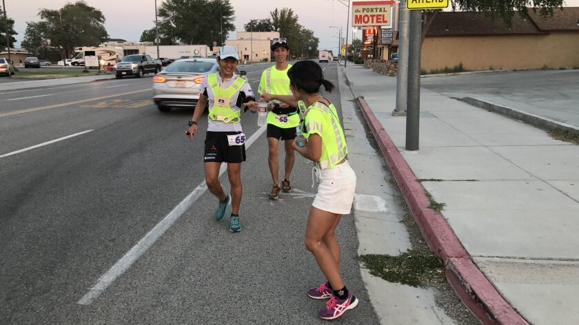 By the time he got to Lone Pine around 8:15 p.m., Japanese runner Iino Wataru, who lives in Chennai,