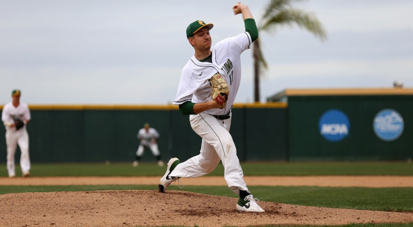 PLNU left-hander Zack Noll was the PacWest Pitcher of the Year in 2019 after going 10-2 with a 2.92 ERA.