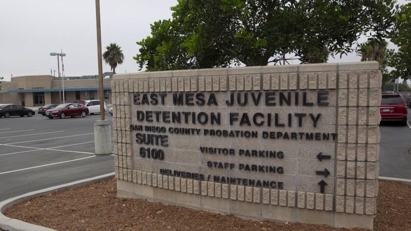 SAN DIEGO, CA.- Aug.18, 2017, The East Mesa Juvenile detention facility. PHOTO/JOHN GIBBINS, Staff photographer, San Diego Union-Tribune) copyright 2017