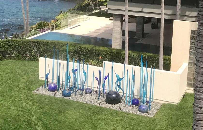 This $1-million outdoor sculpture at a Laguna Beach home owned by Bill Gross is the source of a dispute with a neighbor.