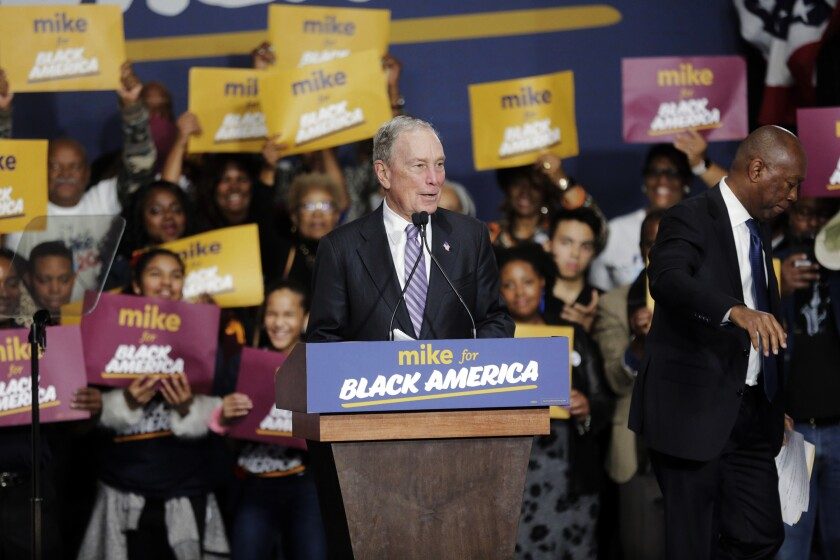 Michael R. Bloomberg campaigns in Houston
