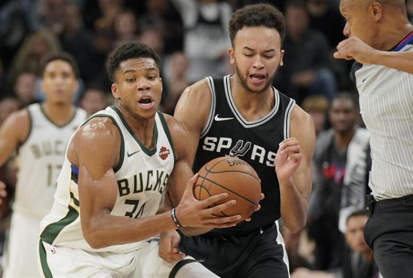 87-94. Ante los Spurs, Antetokoumpo con un doble-doble pone fin a mala racha de los Bucks