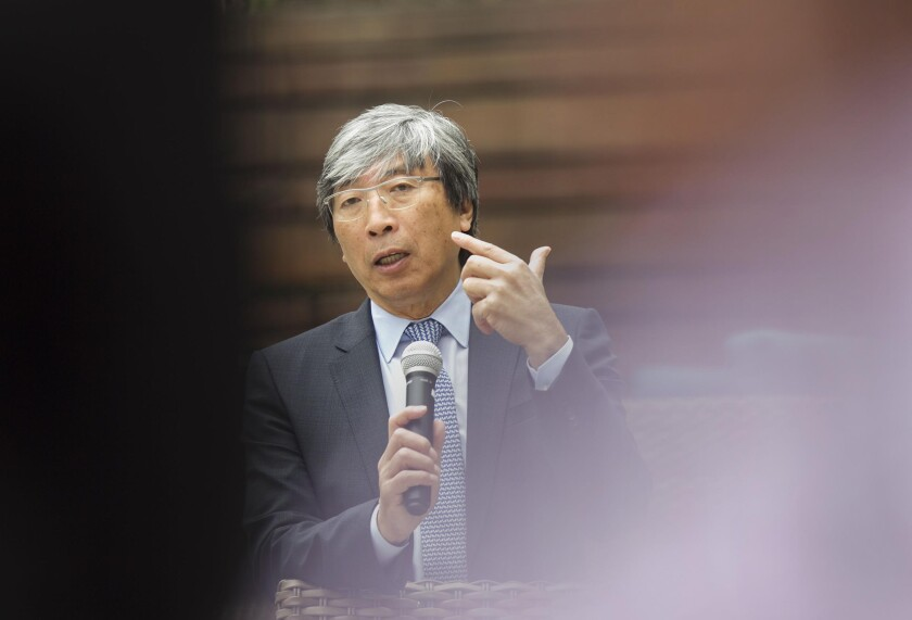 Dr. Patrick Soon-Shiong, the owner of The San Diego Union-Tribune and Los Angeles Times, pictured during a visit to the U-T last year.