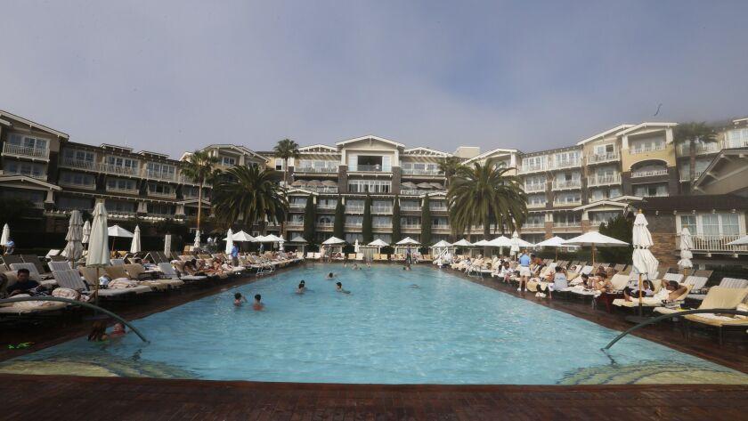 LAGUNA BEACH, CA FEB. 15, 2015: An exterior view of the five star Montage Laguna Beach resort Sunda