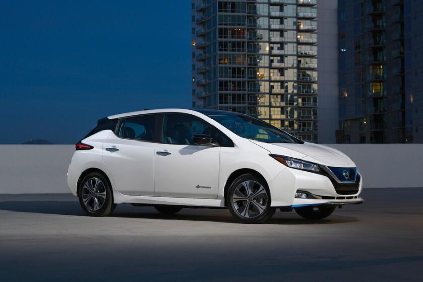 Nissan Leaf EV del 2019.