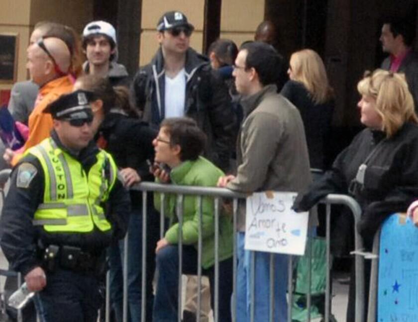 Dzhokhar and Tamerlan Tsarnaev near Boston bombing site