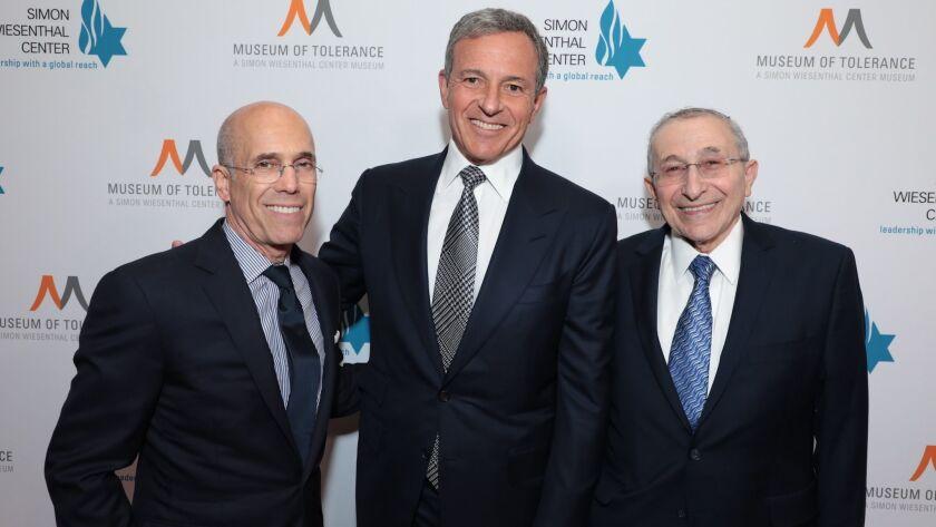 Jeffrey Katzenberg, Robert A. Iger, Marvin Hier