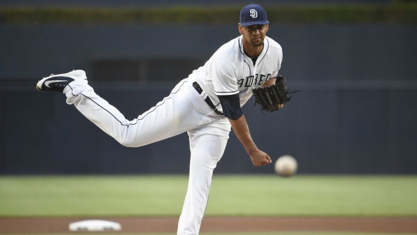 Tyson Ross pitches during the first inning of Thursday's game against the Dodgers.