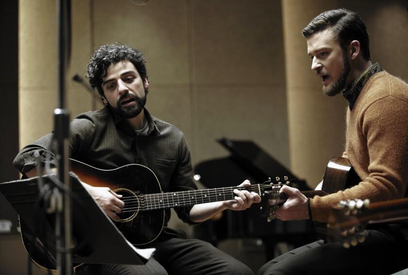 """Oscar Issac, left, and Justin Timberlake star in """"Inside Llewyn Davis."""""""