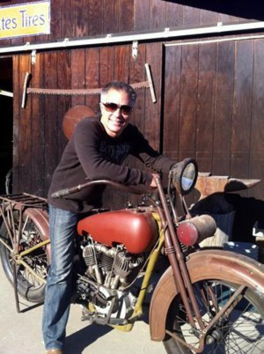 Scott Jacobs on his 1927 Harley-Davidson J.