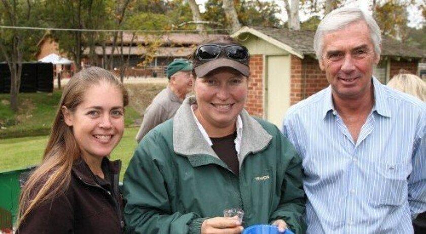 Kim Cullip, Wanda Weldy, manager Bill Milligan (Photo: Jon Clark)