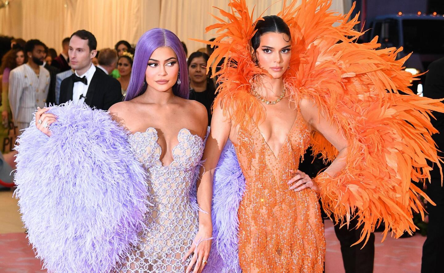 NEW YORK, NEW YORK - MAY 06: Kylie Jenner and Kendall Jenner attend The 2019 Met Gala Celebrating Camp: Notes on Fashion at Metropolitan Museum of Art on May 06, 2019 in New York City. (Photo by Dimitrios Kambouris/Getty Images for The Met Museum/Vogue)