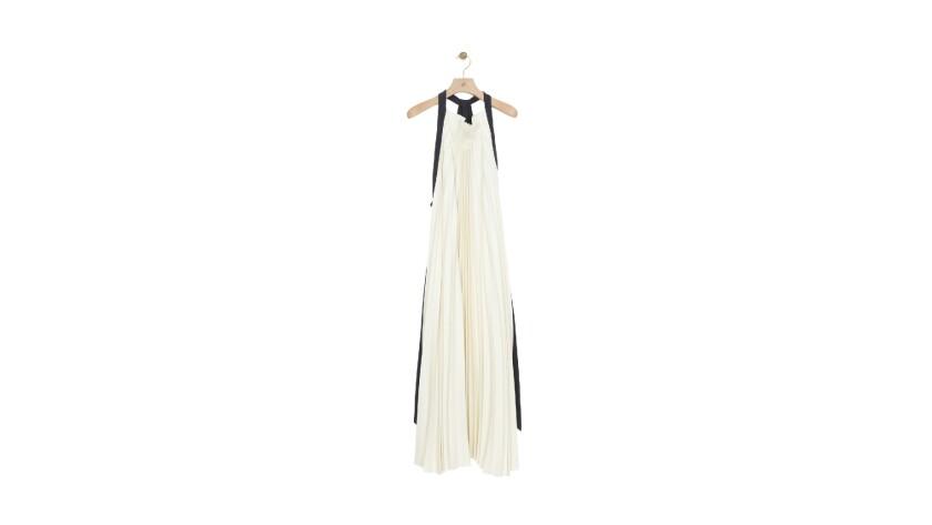 3.1 Phillip Lim pleated open-back maxi dress.