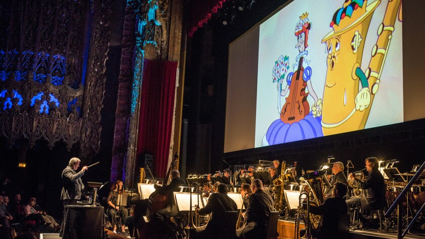 "The Los Angeles Chamber Orchestra performs live to old Disney ""Silly Symphony"" shorts in 2015."