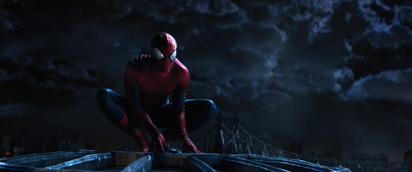 "Andrew Garfield stars in Columbia Pictures' ""The Amazing Spider-Man 2."""