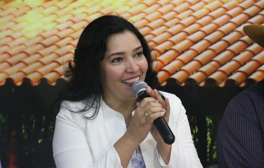En la imagen, la ministra de Turismo de Paraguay, Sofía Montiel. EFE/Archivo